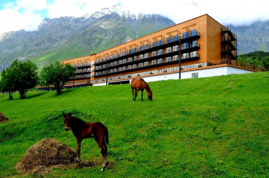 Platan platan reached the mount kazbek for Design hotel kazbegi