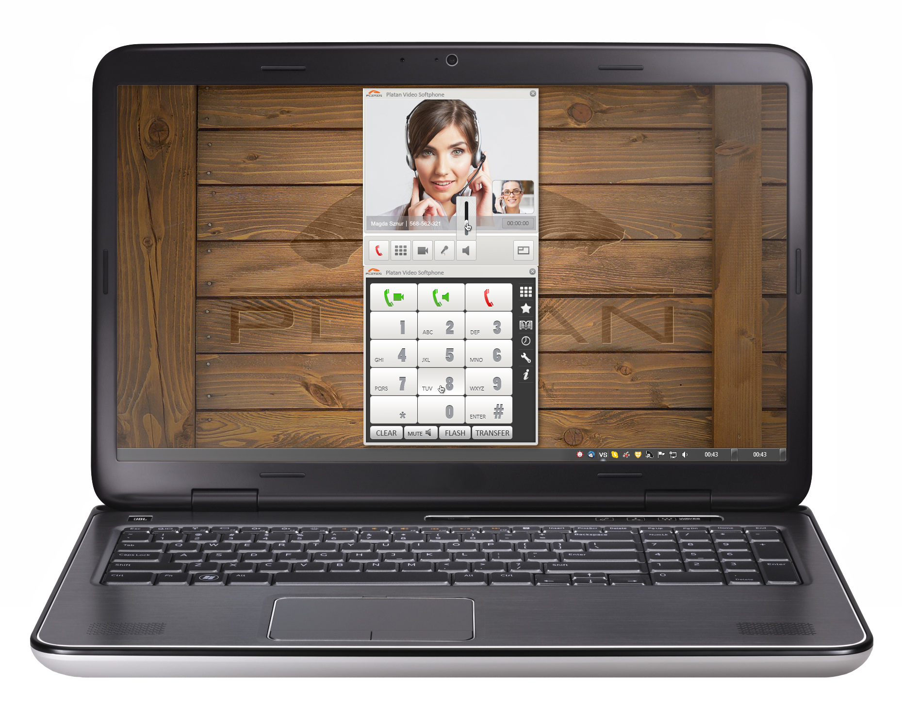 Platan Video Softphone - application to support video calls